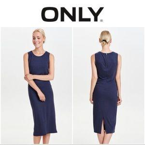 ONLY Sleeveless Maxi Dress Navy Size M